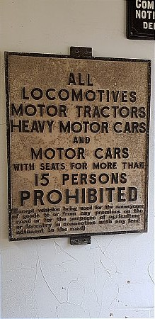 LOCOMOTVES/CARS PROHIBITED - click to enlarge