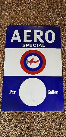 AERO PETROL SIGN - click to enlarge