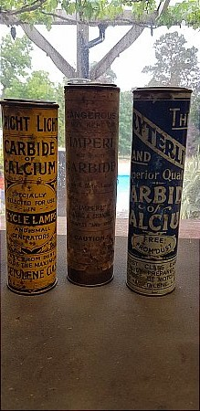 CARBIDE TINS - click to enlarge