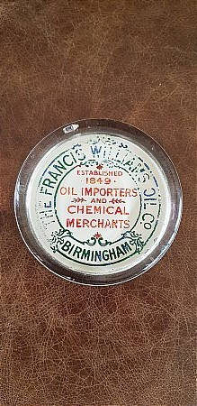 FRANCIS WILLIAMS OIL CO PAPERWEIGHT - click to enlarge