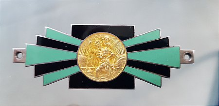 ST CHRISTOPHER DECO DASHBOARD PLAQUE - click to enlarge
