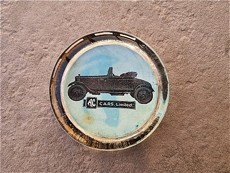 A.C.CARS GLASS PAPERWEIGHT - click to enlarge