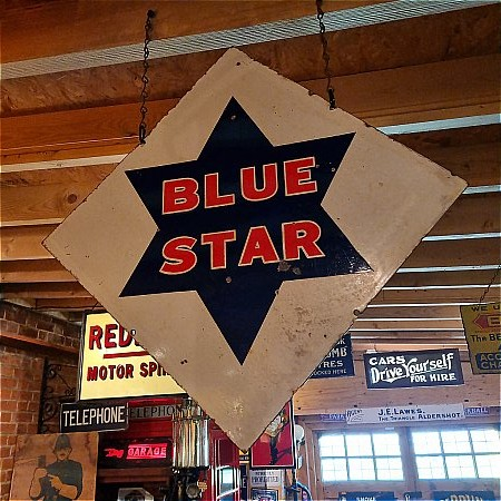 BLUE STAR PETROL DOUBLE SIDED SIGN - click to enlarge