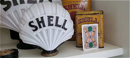 FAT SHELL SALESMAN'S SAMPLE GLOBE - click to enlarge