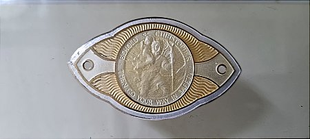 ST. CHRISTOPHER DASHBOARD PLAQUE - click to enlarge