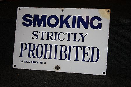 SMOKING PROHIBITED - click to enlarge