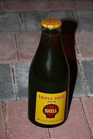 SHELL TRIPLE OIL BOTTLE - click to enlarge