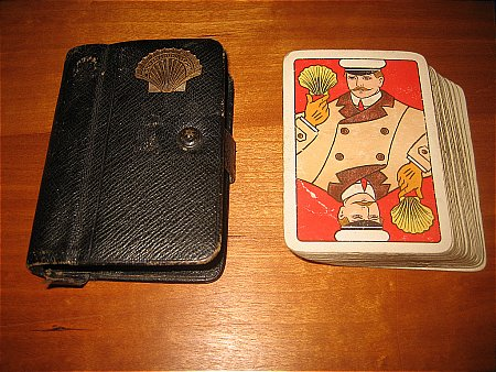 SHELL PLAYING CARDS in WALLET - click to enlarge