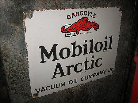 MOBIL ARTIC OIL CABINET SIGN - click to enlarge