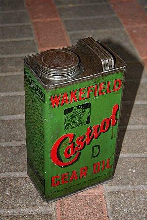 "CASTROL ""D"" GALLON GEAR OIL  - click to enlarge"