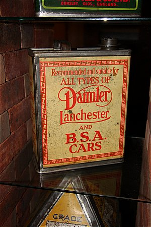 DAIMLER / LANCHESTER /BSA OIL (Gallon) - click to enlarge