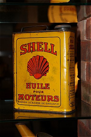 SHELL (Yellow French) MOTOR OIL(1 litre)  - click to enlarge