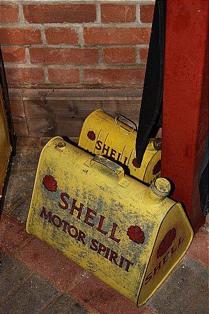 PAIR OF SHELL PETROL CANS - click to enlarge